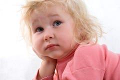 哀伤的婴孩 图库摄影