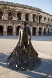 罗马圆形露天剧场,尼姆,法国 免版税库存照片
