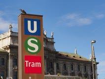 公共交通工具在慕尼黑 免版税库存图片