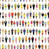 Большой сбор группы людей совместно безшовный Стоковое Изображение RF