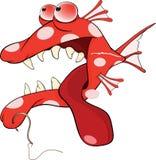 掠食性鱼动画片 图库摄影