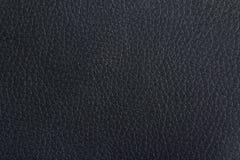 黑皮革纹理 免版税库存图片