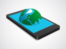 Διαδίκτυο στο κινητό τηλέφωνο Στοκ φωτογραφία με δικαίωμα ελεύθερης χρήσης