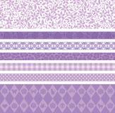 Фиолетовая линия украшения Стоковые Изображения RF