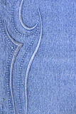 蓝色牛仔裤模式 库存图片
