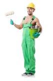Ζωγράφος στις πράσινες φόρμες Στοκ φωτογραφία με δικαίωμα ελεύθερης χρήσης