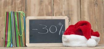 圣诞节折扣 库存图片