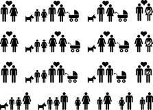 Οικογενειακά εικονίδια Στοκ Φωτογραφία