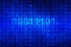Δυαδικός κώδικας στο μπλε υπόβαθρο Στοκ εικόνα με δικαίωμα ελεύθερης χρήσης