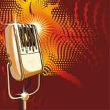вектор микрофона ретро Стоковые Изображения RF