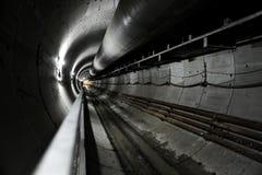 地铁隧道的建筑 免版税图库摄影