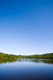 蓝色湖 免版税图库摄影