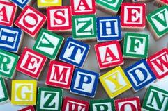 玩具字母表块 免版税库存图片