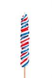 在棍子的棒棒糖糖果 免版税库存图片