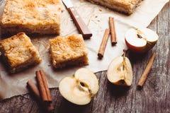 苹果蛋糕 库存照片
