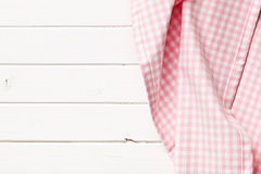 桃红色方格的餐巾 库存图片