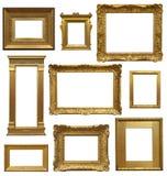 Старые рамки художественной галереи Стоковые Фотографии RF