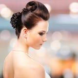 现代婚礼发型 库存图片