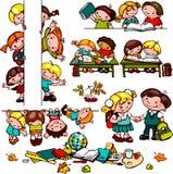 Σχολικό σύνολο παιδιών Στοκ Εικόνα