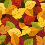 与五颜六色的秋叶的无缝的背景。 免版税库存图片