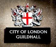 Город знака Лондона Стоковое Изображение RF