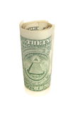 Один крен долларовой банкноты Стоковое Фото