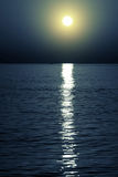 月亮的光 免版税库存照片