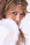 害羞天使的圣诞节 免版税库存图片