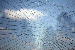 残破的玻璃 库存图片
