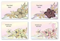 花花束倒栽跳水集合。花卉装饰收藏 图库摄影