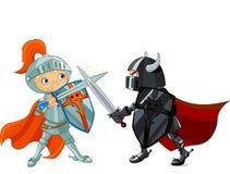 Воюя рыцари Стоковое Фото