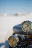 葡萄酒汽车的引擎细节 免版税库存照片