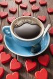 我爱咖啡 库存图片