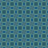 绿松石古色古香的样式 免版税库存图片