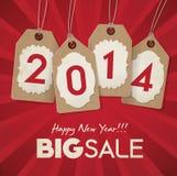 新年销售 免版税图库摄影