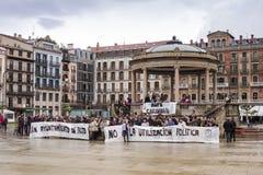罢工在西班牙 免版税库存照片