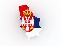 Χάρτης της Σερβίας. Στοκ Εικόνα