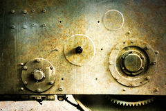 老生锈的机械工具 图库摄影
