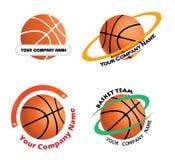 Установите логотипы баскетбольной команды Стоковая Фотография RF