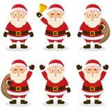 圣诞老人动画片圣诞节集合 免版税库存图片