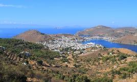 希腊/拔摩岛:风景 免版税库存照片