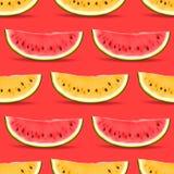 西瓜无缝的样式 免版税库存图片