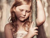 哀伤的孩子画象  免版税图库摄影
