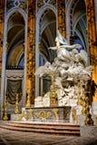 沙特尔法坛雕塑大教堂在法国 库存图片