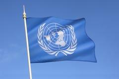 联合国旗 免版税图库摄影