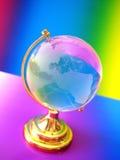 玻璃地球世界 库存图片