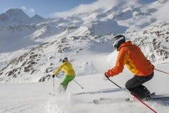 高山滑雪 免版税库存图片