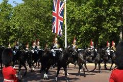 军事游行在伦敦 库存图片