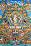 西藏,中国的传统宗教绘画 库存照片