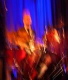 Αφηρημένη συναυλία τυμπανιστών. Στοκ Φωτογραφία